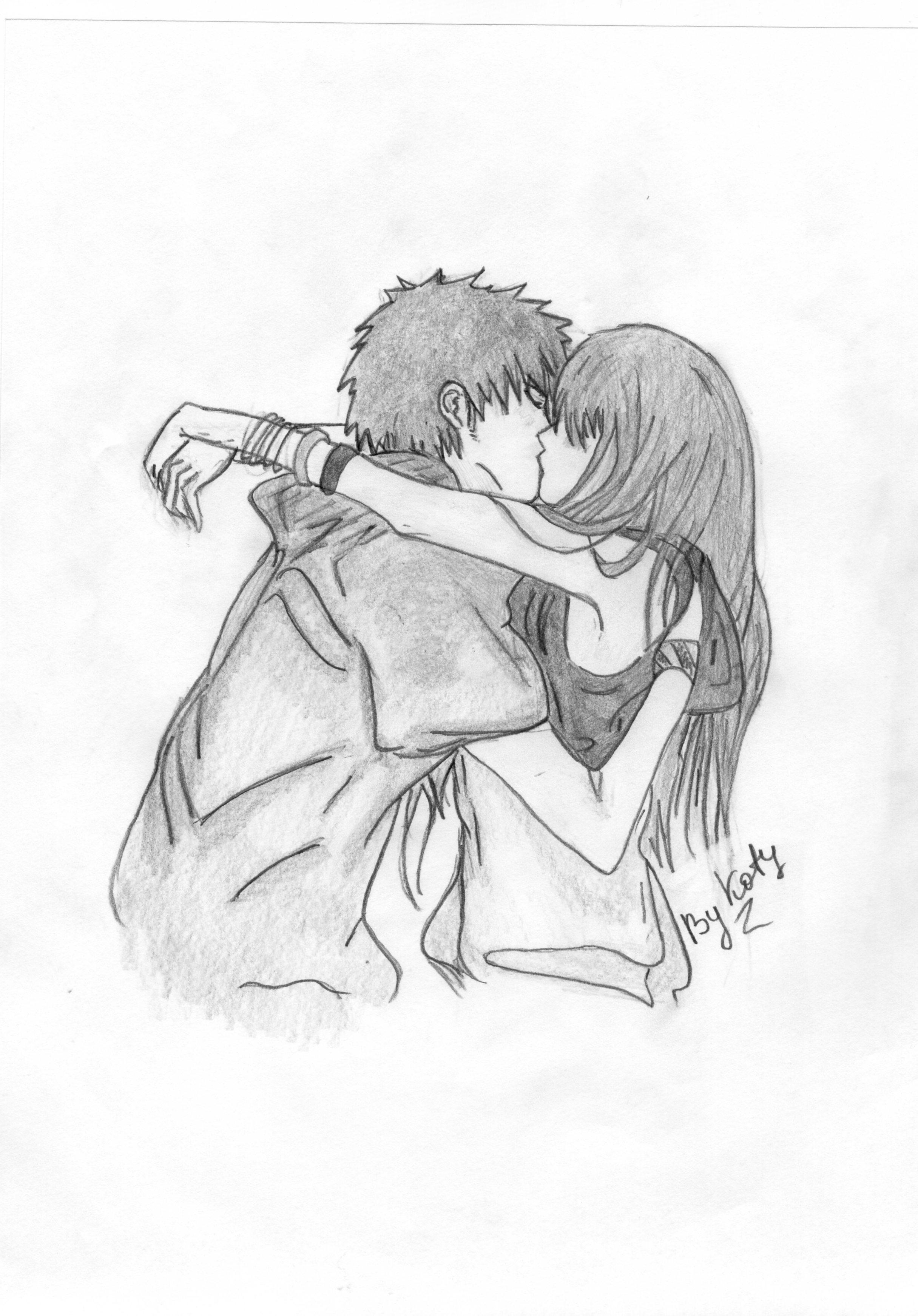 рисунки карандашом поцелуи и секс